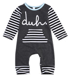 long sleeve romper 2016 wholesale baby kids boy girls warm infant romper cotton striped clothes outfits
