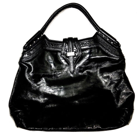 Botkier Black Leather Hobo Handbag