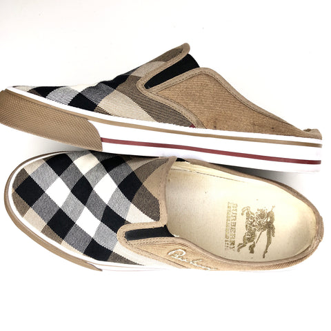 Burberry Nova Check Slip-On Sneakers US 9