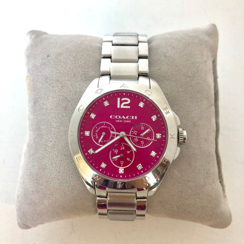 Coach Hot Pink Chronograph Women's Watch