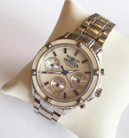 Invicta Mother Of Pearl Chronograph Watch