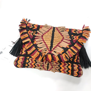 Antik Batik NEW Leather Woven Clutch