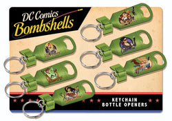 DC Bombshell Bottle Opener Keyring - The Nerd Source Code