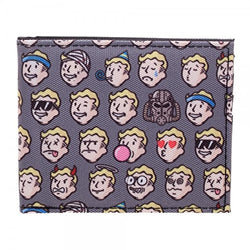 Fallout 4 Vault Boy Emojis Mens Bi-fold Wallet - The Nerd Source Code