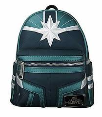 Loungefly Marvel Captain Marvel Kree Mini Backpack - The Nerd Source Code