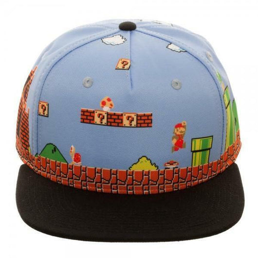 Mario 8Bit All Over Scene Snapback - The Nerd Source Code