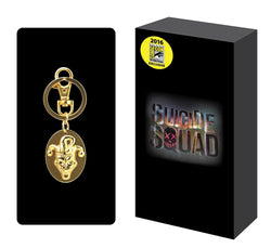 Suicide Squad Joker Gold Pewter Keyring SDCC 2016 - The Nerd Source Code