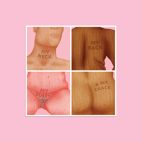 Neck, Back, Pussy & Crack Square Print