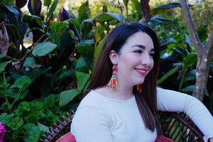 From Found Tassel Earrings