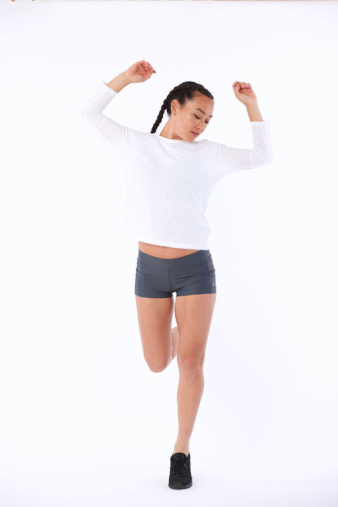 Activewear yoga workout tops organic cotton