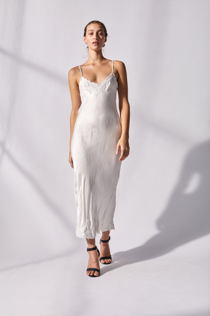 Bias cut Maxi Slip Dress