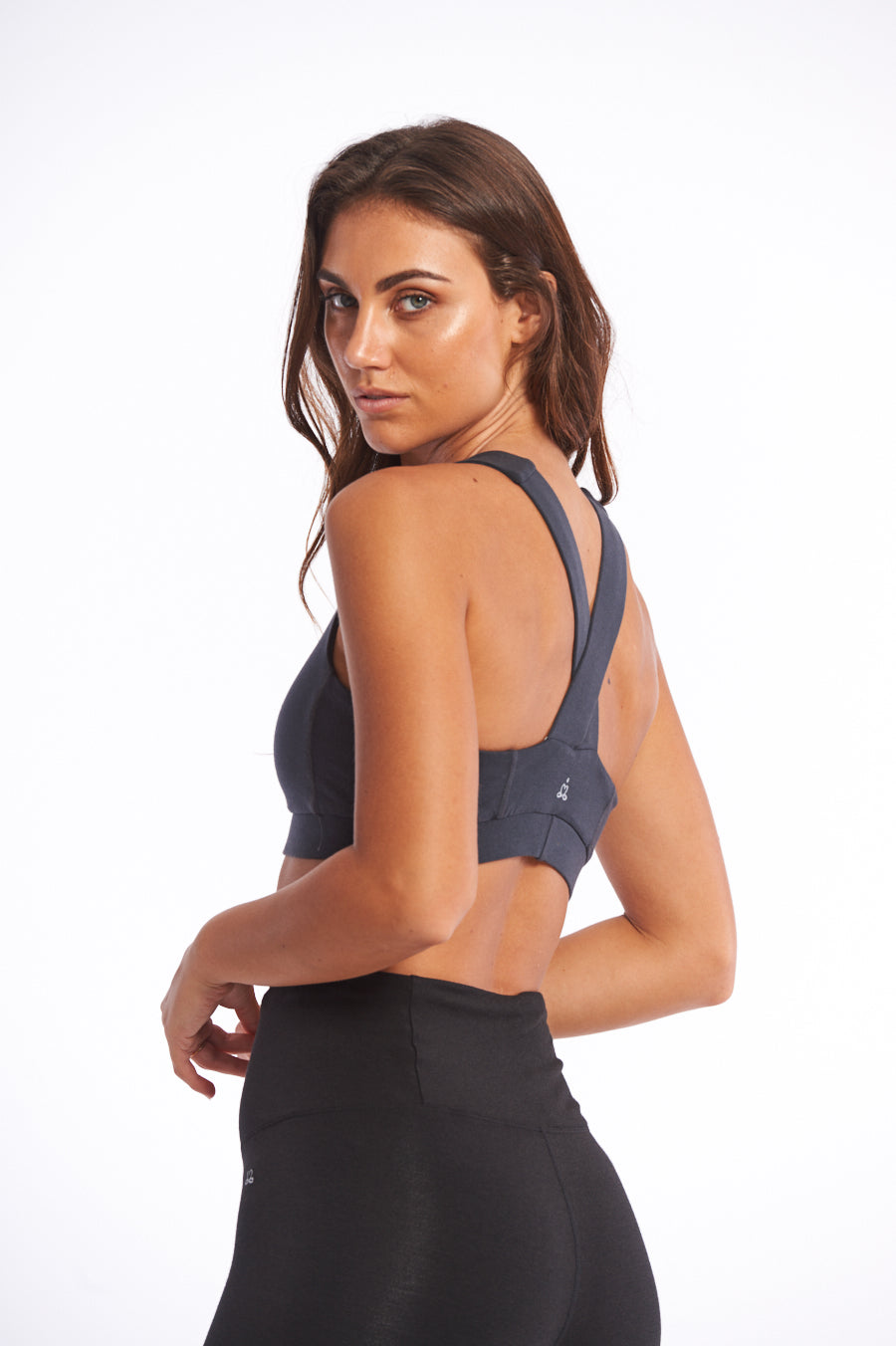 Activewear organic crop top for yoga