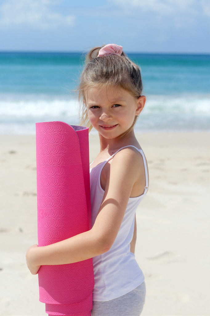 Kid's ECO yoga mat FUSCHIA + PURPLE
