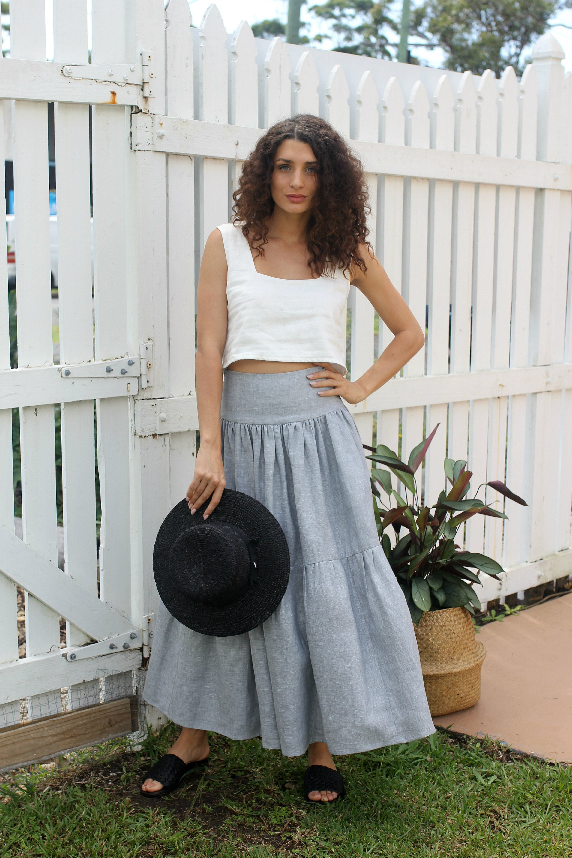 Merivale Maxi Skirt Chambray