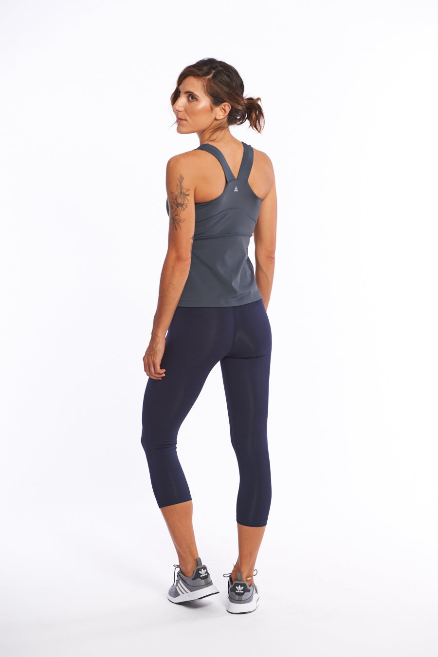 Quick drying activewear top for hot yoga
