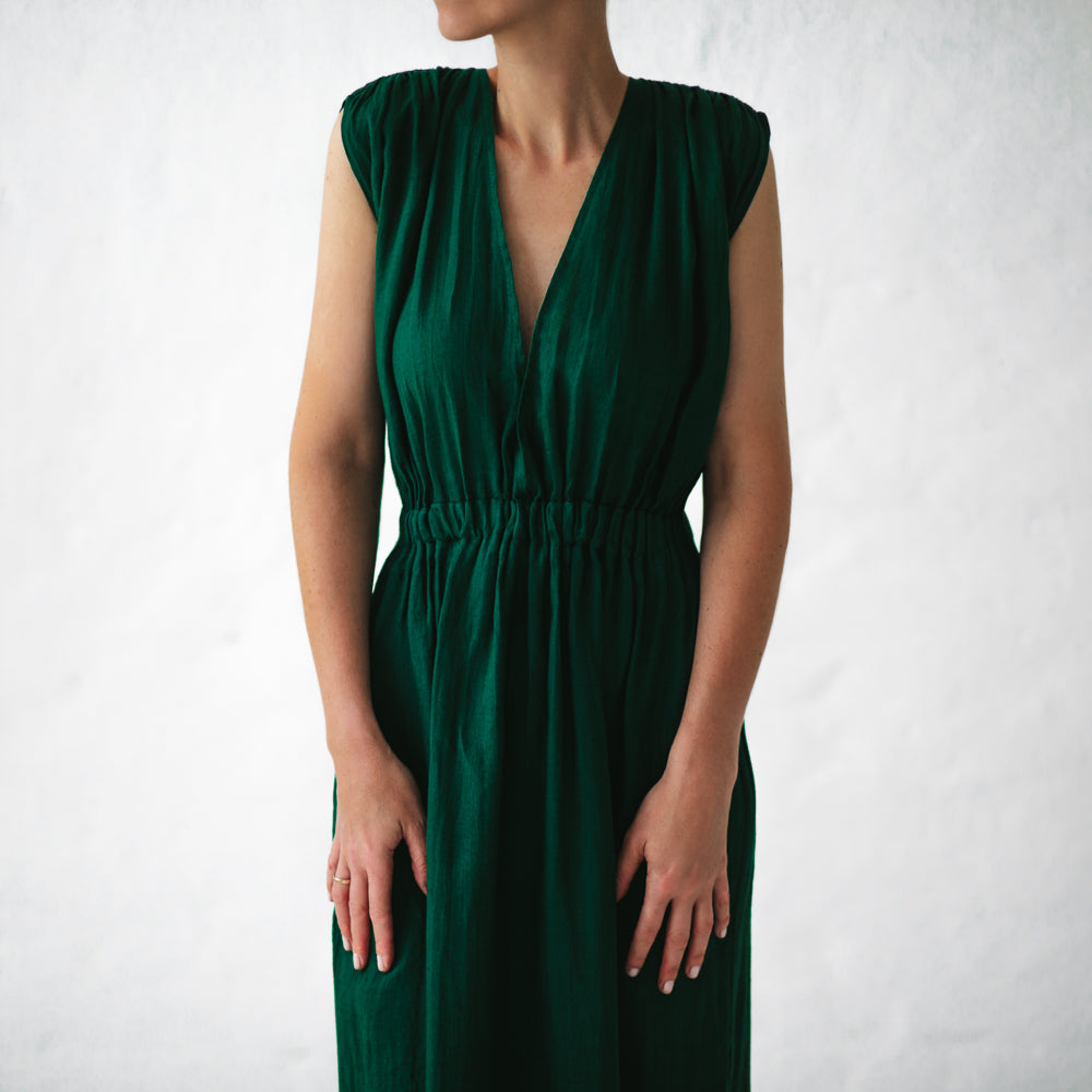 Dress Column Emerald