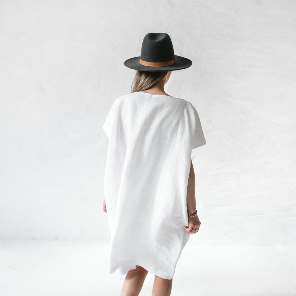 Dress - Beach cover up White