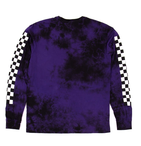 2Tone Tie Dye L/S Grape