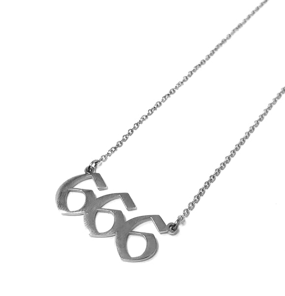 666 Nameplate Necklace