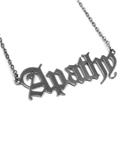 Apathy Nameplate Necklace