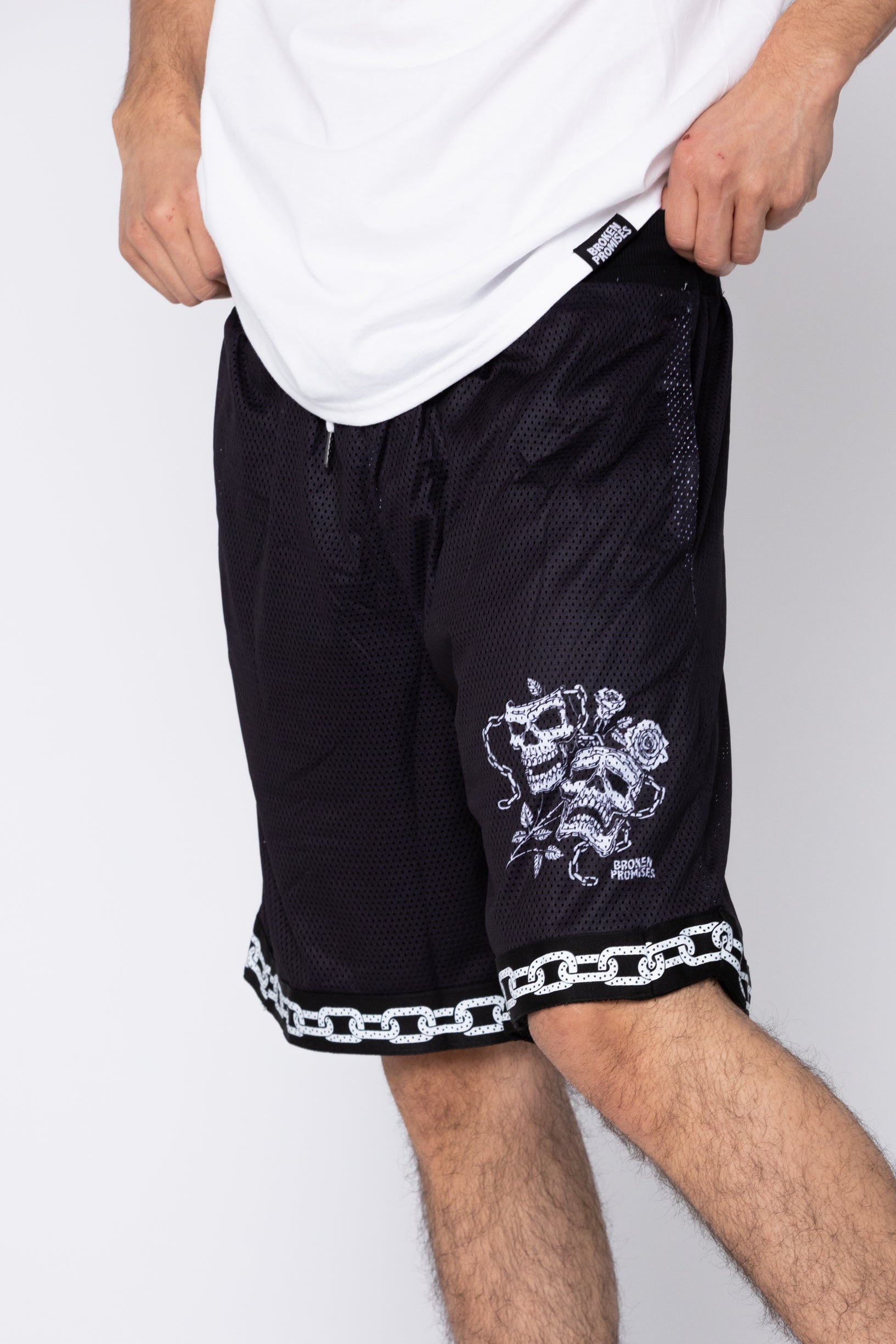 Fun & Games Mesh Shorts Black