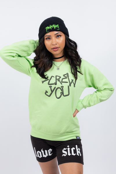 Driver Crew Neck Lime