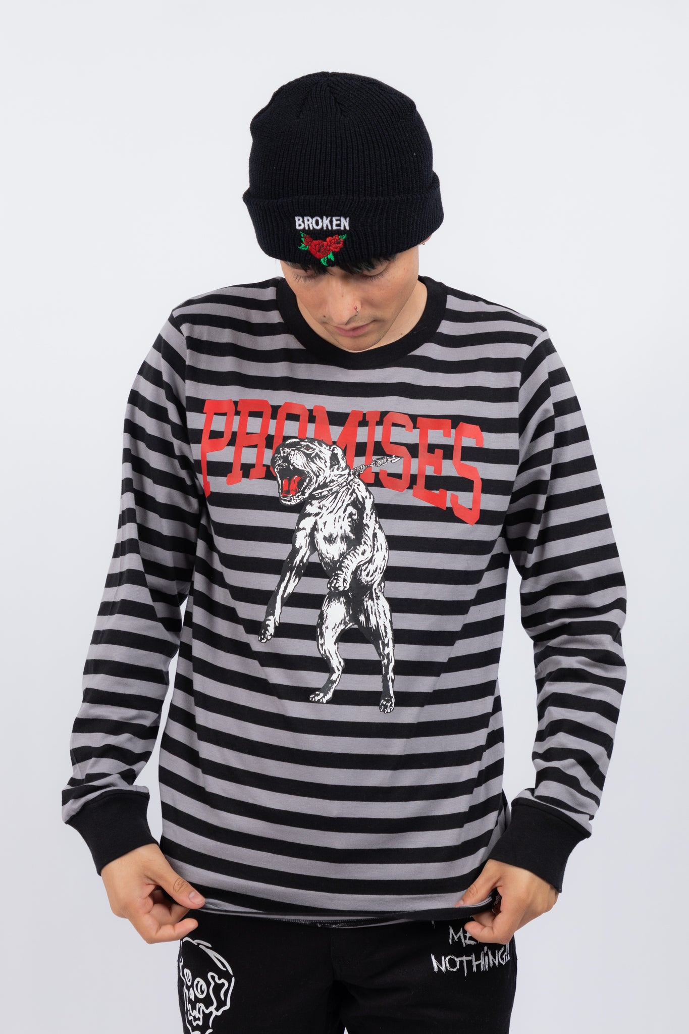 Untamed Stripe L/S Blk