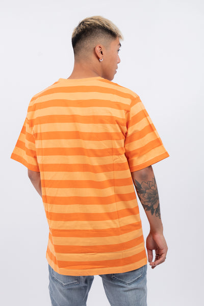 Self-Destructive Stripe Tee Orange