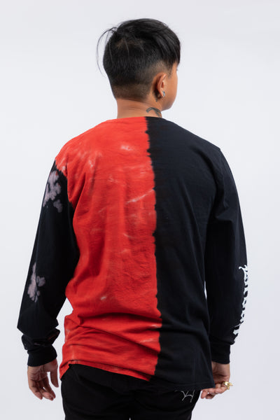 Logo Split Dye L/S Blk/Red