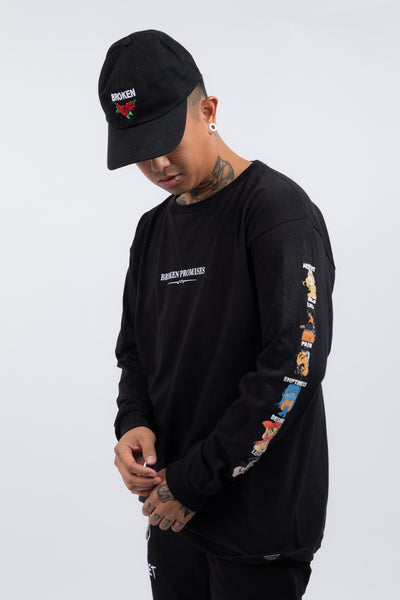 Whole Gang Anime L/S Black
