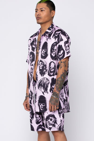 Reaper Guide Button Up Shirt Pink