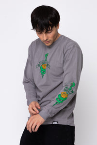 Friends Lie L/S Grey Dye