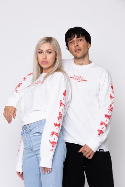 Lunar Guide L/S White/Red