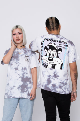 Pepe Le Pew Find Love Crystal Wash Tee