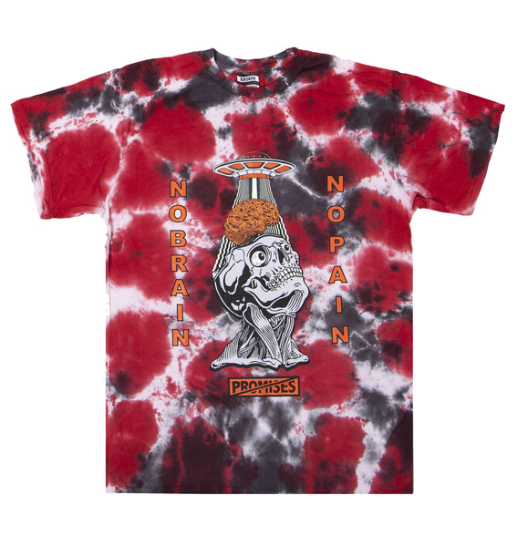 Brain Abduction Tie Dye Tee Red
