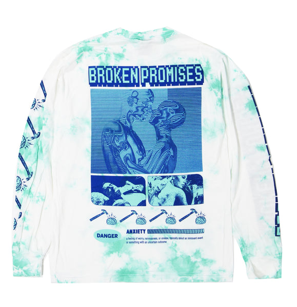 Brain Waves Tie Dye L/S