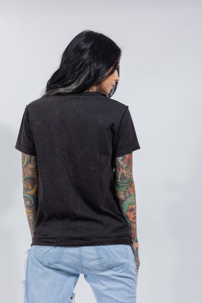 Graveyard Washed Chain Tee Black