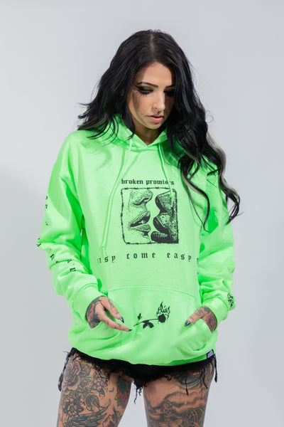 Easy Come Easy Go Hoodie Neon Grn