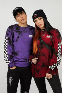 2Tone Tie Dye L/S Purple Punch