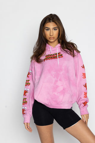 Two Moods Hoodie TD Pink - BP x Hot Stuff
