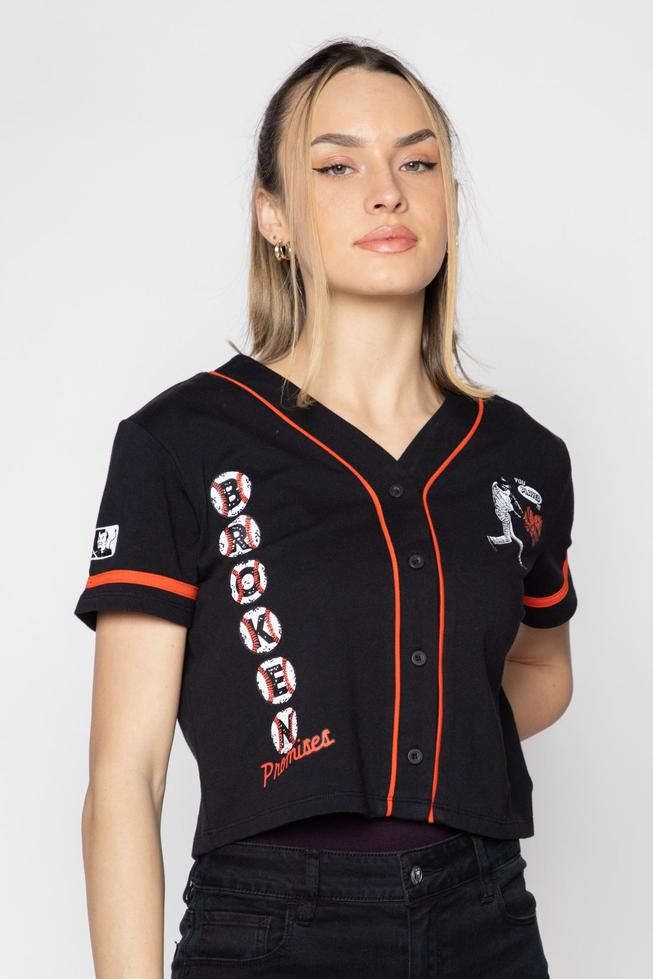 Batter Up Cropped Jersey