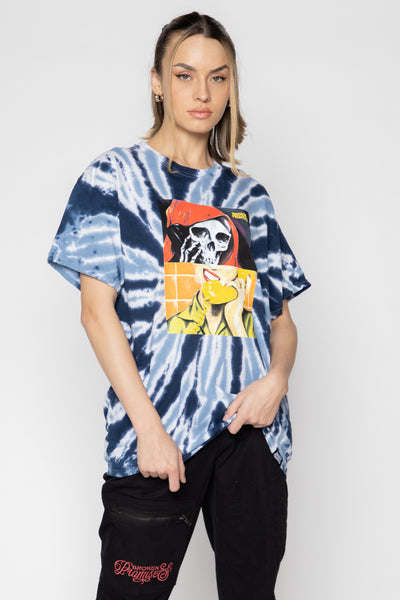 On Call Spiral Dye Tee Blue
