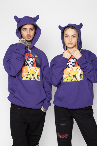 On Call Horn Hoodie Purple