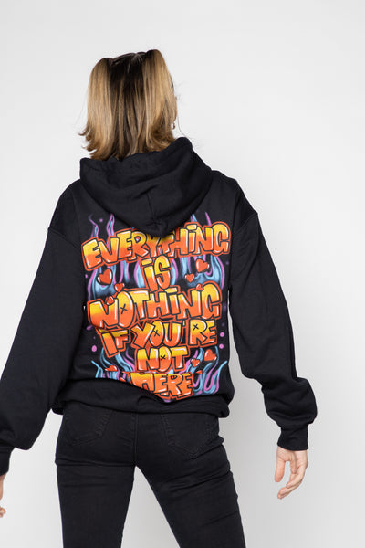 Airbrush Hoodie Black - BP x Hot Stuff