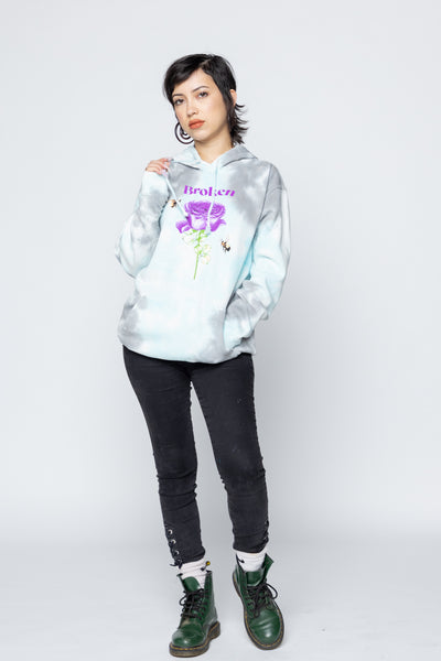 Happy on the Outside Crystal Wash Hoodie
