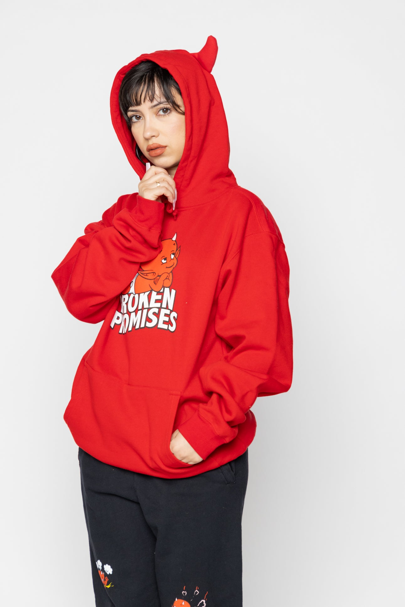 Daydreaming Horn Hoodie Red - BP x Hot Stuff