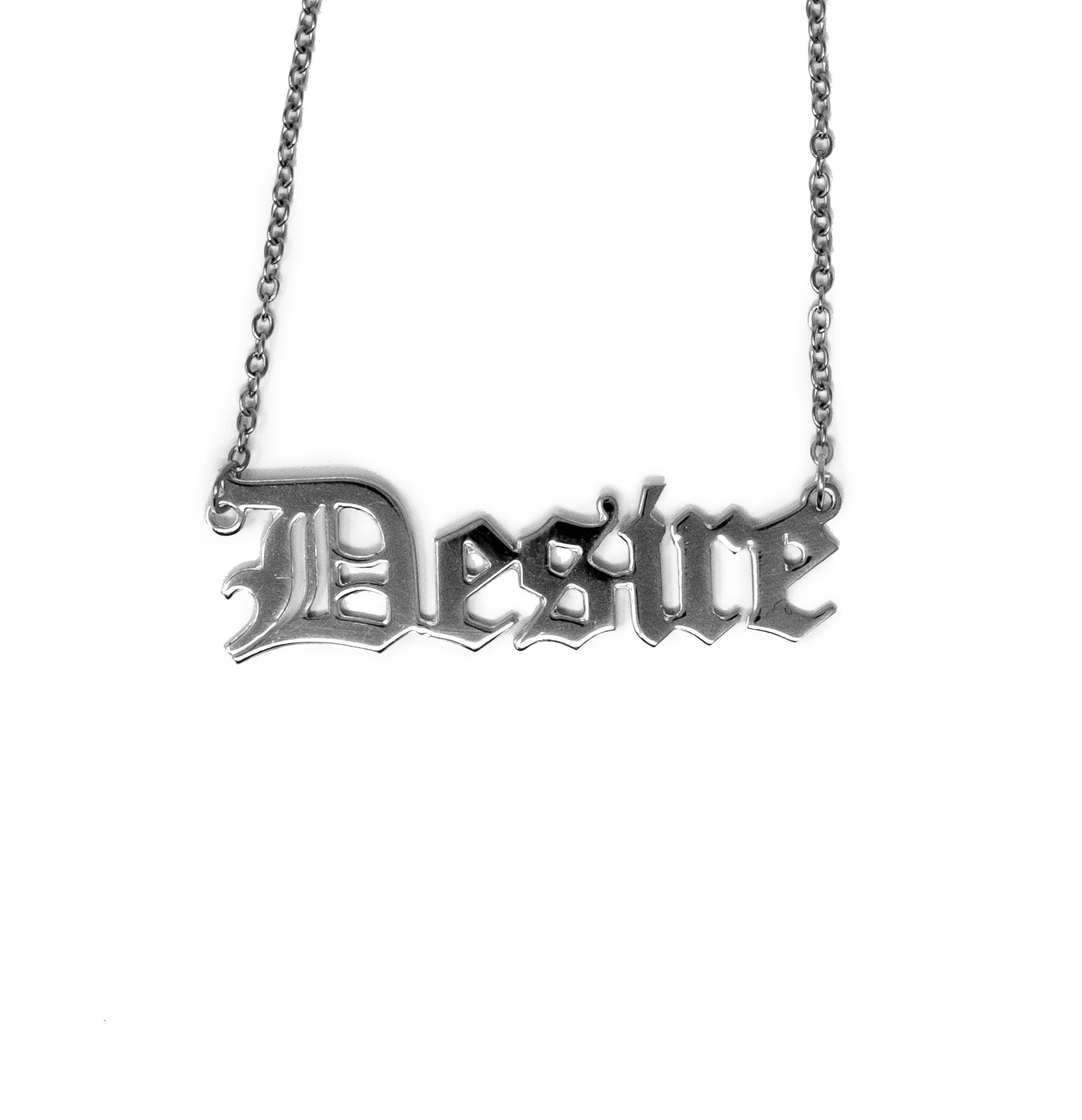 Desire Nameplate Necklace