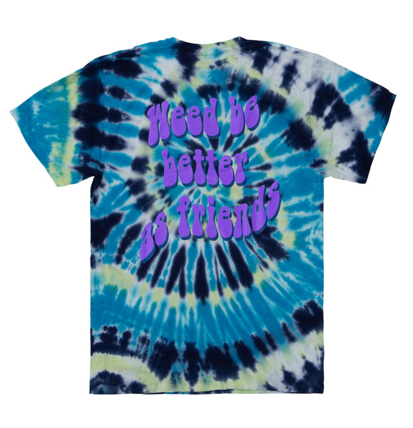 Friend Zone Tie Dye Tee Blue