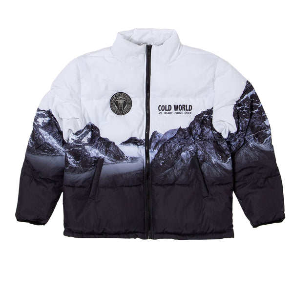 Glacier Cold Puffer Jacket (Black/White)