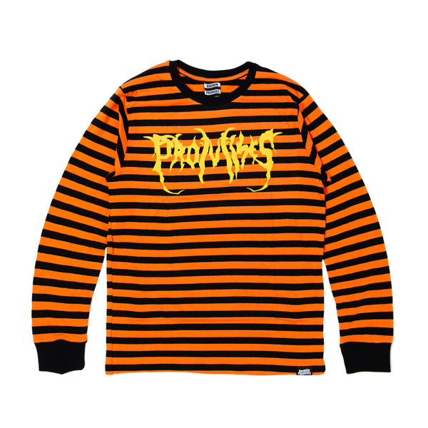 Graveyard Stripe L/S Orange